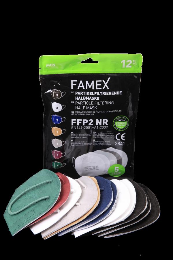 ffp2 maske, famex ffp2 maske, 5 katlı koruyucu maske, erkeklere özel maske